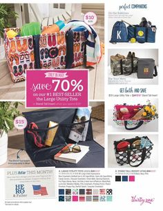 Thirty-One Gifts May 2017 Customer Special the large utility tote and Stand Tall insert our #1 selling product check out the new prints and icons  Kristin Moses Thirty -One Consultant  www.mythirtyone.com/kristinmoses #thirtyonegifts #lut #insert #tote #products #utilitytote #large #special #customer #joinme #findaconsultant #flipflop #may