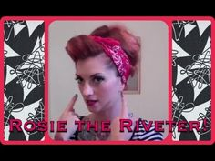Rosie the riveter bandana tutorial