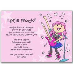 79 best rockstar party images on pinterest birthday party ideas invite wording rsvp rock star birthday partypop stopboris Choice Image