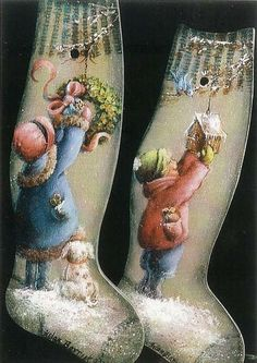 a picture of helan barrick Santa Paintings, Christmas Paintings, Cool Paintings, Arte Country, Pintura Country, Noel Christmas, Christmas Crafts, Christmas Decoupage, Xmas