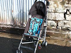 Make your own stroller liner!!! That's smart... easy cleaning when needed!