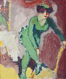 Kees van Dongen (1877-1968)  La femme au collant vert  Price realised  GBP 1,105,250 USD 1,589,350 Estimate GBP 800,000 - GBP 1,200,000 (USD 1,140,000 - USD 1,710,000)