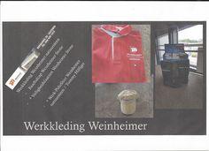 Bedrijfs / Werkkleding Weinheimer natuursteen Susteren