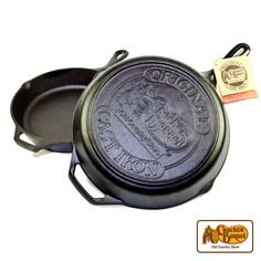 """This 12"""" Skillet is a Cracker Barrel exclusive, featuring our logo on the bottom of the pan. And best of all, you can use it to do some country cookin' without having to season it first!    Answer fun questions and you could win in the Cracker Barrel Old Country Store Pick it to Win it Sweepstakes. Start 'picking' your answers at crackerbarrel.com/win (ends Jan 2, 2013)."""