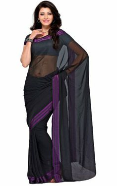 Amazing Black Color Georgette Indian Saree PR35134031. Sale : $58.00