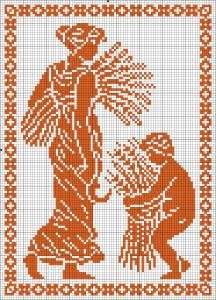 The Four Seasons - Summer | Chart for cross stitch or filet crochet.