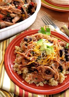 Slow Cooker Pork Tenderloin with Peach Salsa - easy recipe with lots of ideas for the carnitas style meat! My favorite is served over quinoa!