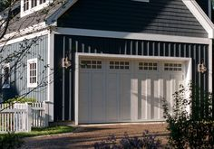 CURB APPEAL – another great example of beautiful design. Garage Ideas.