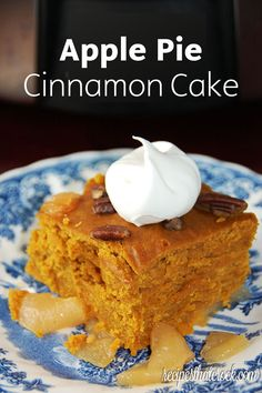 This slow-cooker Pumpkin Apple Cinnamon Cake is packed full of delicious fall flavors. Your family will love this easy dessert recipe—perfect for all autumn occasions!