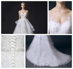 Cap Sleeves Illusion Bateau Neckline Lace Appliques A-line Wedding Dress