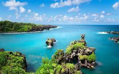 ハワイ, マウイ, 米国, 海洋, 湾, 夏, 波