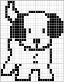 Little Scottie dog pattern chart, great for making crochet corner to corner blanket, or afgan. This could be used as a Graphgan pattern Knitting Patterns Free Dog, Knitting Charts, Loom Patterns, Knitting Stitches, Dog Sweater Pattern, Baby Cardigan Knitting Pattern, Dog Pattern, Cross Stitching, Cross Stitch Embroidery
