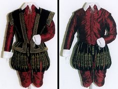 Elizabethan Noble's Costume With and Without Jerkin -- gorgeous...need it in emerald and black.