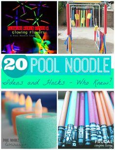 20 Pool Noodle Ideas and Hacks - Who Knew? Round-Up on Frugal Coupon Living plus other Summer Activiies, Kids Games, Kid's Tools and Home Hacks.