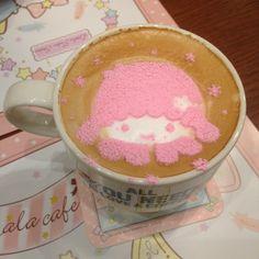 Fancy cafe latte
