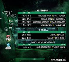 ম্যাচের সিডিউল দেখুন baji555! এখনই baji555 এ বেট ধরুন এবং উইন বিগ! #baji #Sports #Cricket #Schedule #Fixtures Perth, Brisbane, Cricket Fixtures, Melbourne Stars