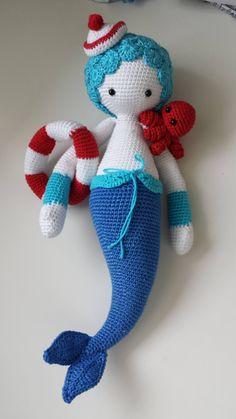 MICI the mermaid made by Céline C. / crochet pattern by lalylala