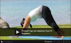 "Prenatal yoga video: ""Strong Mama"" sun salutation for #pregnancy #fitness."
