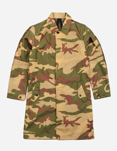 maharishi 7107 CAMO MAC COAT - ITALIAN MILITARY SURPLUS NYLON