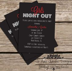 Bachelorette Invitations #girlsnightout #vegas