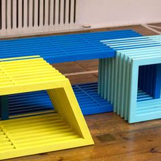 Additions by Eindhoven-based Izabela Boloz is a modular furniture system designed for public spaces. to