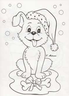 Cute Coloring Pages, Christmas Coloring Pages, Coloring Sheets, Coloring Books, Christmas Animals, Christmas Colors, Christmas Crafts, Xmas, Free Adult Coloring