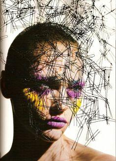 @Byrdie Beauty - Sasha Pivovarova Gets Graphic Vogue Beauty Italia, August 2007 Photographer: Mario Sorrenti Hair: Recine Makeup: Linda Cantello Model: Sasha Pivovarova