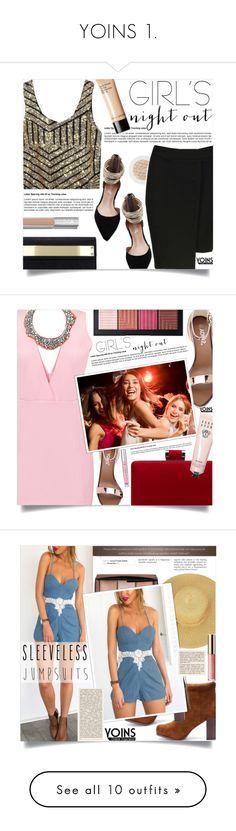 """YOINS 1."" by fairouze on Polyvore featuring Bobbi Brown Cosmetics, girlsnightout, yoins, yoinscollection, loveyoins, Victoria's Secret, NARS Cosmetics, Mignonne Gavigan, tarte and sleevelessjumpsuits"