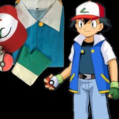 >> Click to Buy << Go Ash Ketchum Trainer Costume Cosplay Jacket Gloves Hat Ash Ketchum Whole Set Cosplay Costume Fast Shipping #Affiliate