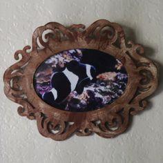 Black amd White Clownfish Framed Wall Art by InspiringFotos, $25.00