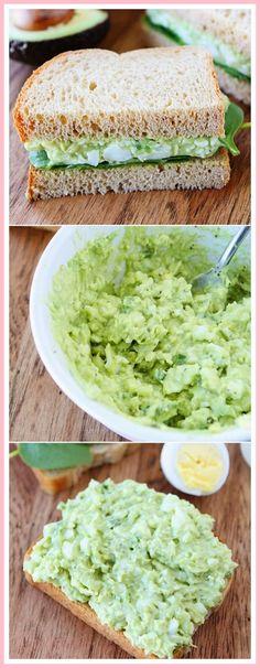Avocado Egg Salad Recipe on twopeasandtheirpo… My all-time favorite egg salad recipe! Avocado Egg Salad Recipe on twopeasandtheirpo… My all-time favorite egg salad recipe! Healthy Snacks, Healthy Eating, Healthy Recipes, Keto Recipes, Burger Recipes, Cleanse Recipes, Brunch Recipes, Healthy Mayo, Paleo Mayo
