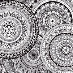 Zentangles, Mandala Design, Design Art, Doodles, Drawings, Artwork, Instagram, Mandalas, Work Of Art