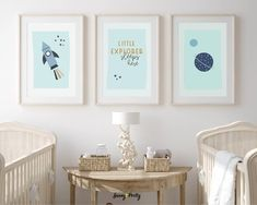 Baby Boy Nursery Decor, Baby Boy Rooms, Baby Room Decor, Nursery Décor, Nursery Quotes, Nursery Ideas, Room Ideas, Outer Space Nursery, Space Themed Nursery