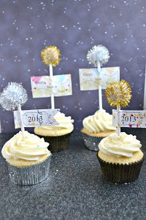 Champagne Cupcakes for New Year's Eve or any party!
