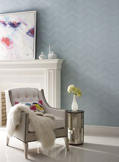 "New beaded pattern ""Meander"" from Candice Olson for York. Light, modern, beautiful!  #yorkwallcoverings"