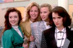Heathers Who in their right mind wears blazers to high school??  Yep---I did