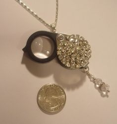 Hey, I found this really awesome Etsy listing at https://www.etsy.com/listing/169375809/magnifying-glass-jewelry-loupe-pave