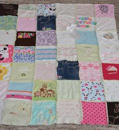 35 x 35 Baby Clothes Memory Blanket Quilt  FREE by SewingAlchemy, $75.00 by gabrielle