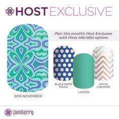 November's #HostExclusive is absolutely gorgeous! Who wants to earn this beauty by partying this month? #Jamberry #nailart #nailwraps #diynails #letsparty  https://jamwithalyssajo.jamberry.com/us/en/