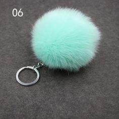 Fluffy Pompon Fur Ball Key Chain For Women Faux Rabbit Fur Pompom Keychain Trinket Charm Bag Key Ring Holder Jewelry Gift Key Chain Holder, Key Chain Rings, Key Chains, Fluffy Rabbit, Rabbit Ears, Charm Jewelry, Jewelry Gifts, Fur Keychain, Shape Patterns