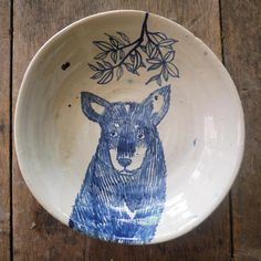 dog in plate