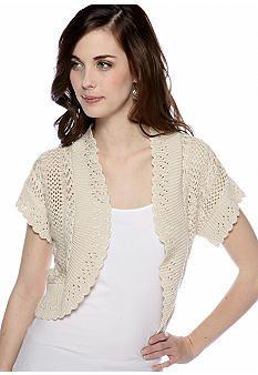 New Directions® Short-Sleeved Crochet Shrug