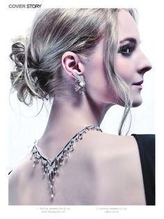 Looking back, the brilliance is still dazzlingl Wonderland Fook Jewellery Jewellery Platinum Jewelry, Designer Collection, Winter Wonderland, Hong Kong, Jewelry Design, Magazine, Jewellery, Earrings, Ear Rings