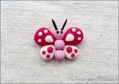 Tuto - Réaliser un papillon en pâte polymère, par Ptit Amande