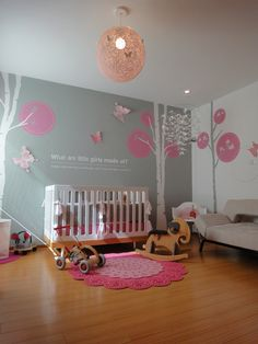 Wow this is so close to everything I've thought up for my little cupcake's nursery!