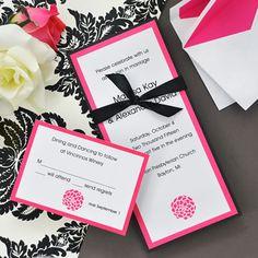 Love these simple D.I.Y. wedding invitations!  #wherebridesgo