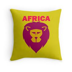 """""""LION-AFRICA"""" Throw Pillows by IMPACTEES 