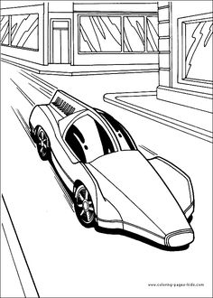 Hot Wheels color page cartoon characters coloring pages, color plate, coloring…