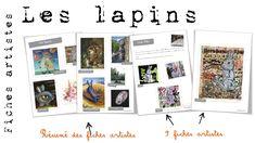 Fiches artistes : les lapins - Bout de gomme