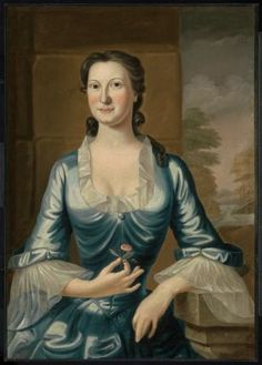 Mrs. Henry Bromfield (Margaret Fayerweather)  about 1749  John Greenwood, American, 1727–1792  DIMENSIONS  92.39 x 65.72 cm (36 3/8 x 25 7/8 in.)  MEDIUM OR TECHNIQUE  Oil on canvas  CLASSIFICATION  Paintings